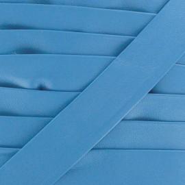 Biais simili Cuero bleu 20 mm