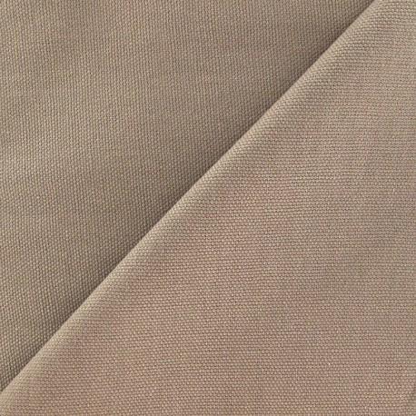 Cotton Canvas Fabric - CANAVAS Light Brown x 10cm