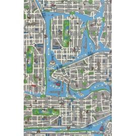 Tissu Passport - New york city mapin  x 59cm