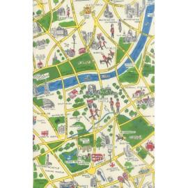 Tissu Passport - London city vert clair x 58cm