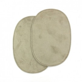 Calfleather velvet elbow patch - sand