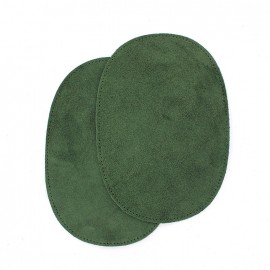 Velvet Calf-leather loden-cloth elbow patch - green