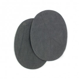 Renforts coudes et genoux aspect daim gris bleu