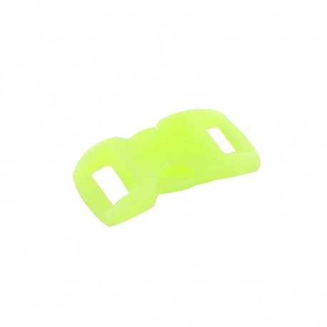 Polyester side-release buckle for Paracord, phosphorescent - green