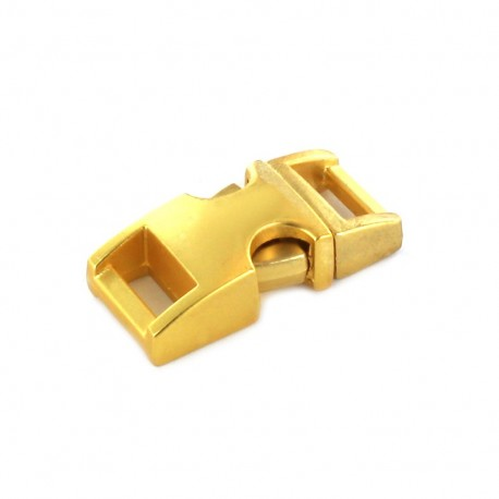 Metal side-release buckle for Paracord - golden