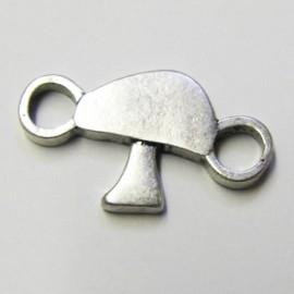 Mushroom charm - silver