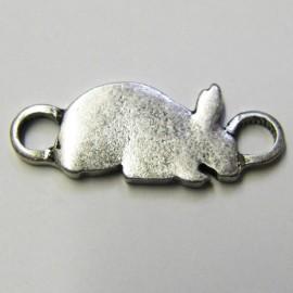 Rabbit charm - silver