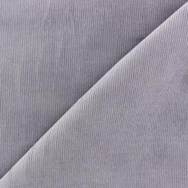 Tissu velours milleraies Melda 200gr/ml parme x10cm