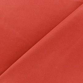 Tissu Lycra épais rouge-orange x 10cm