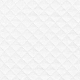 Tissu jersey matelassé France duval blanc x 10cm
