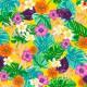 ♥ Coupon 100 cm X 140 cm ♥ Oilcloth fabric Exotica