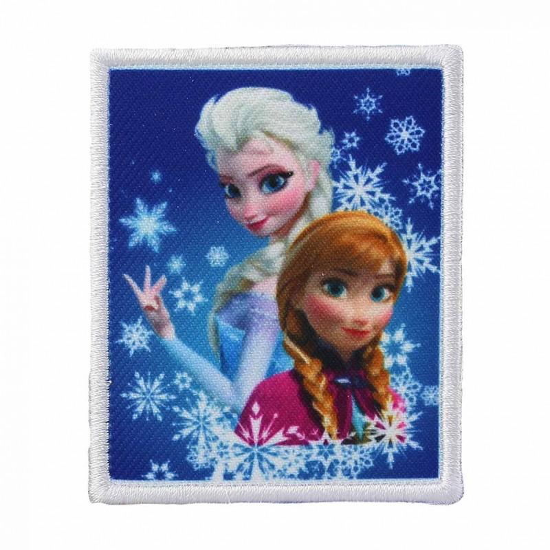 Thermocollant brod la reine des neiges elsa et anna sous les flocons de neige ma petite - Anna elsa reine des neiges ...