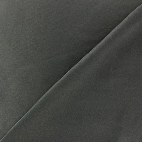 Silk Touch Satin Fabric - steel x 50cm