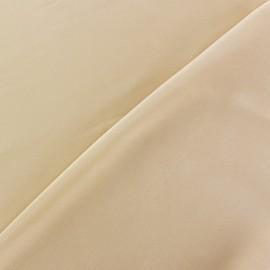 Tissu satin touché soie champagne x 50cm