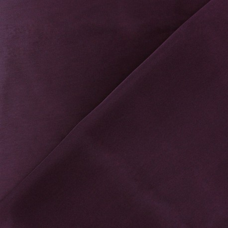 Silk Touch Satin Fabric - plum x 50cm