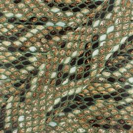 Leatherette ribbon, Snake 30 mm - green