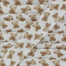 Bias tape Teddy Bear - beige
