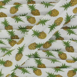 Bias tape pineapple - white