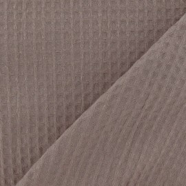 Double-sided Honeycomb towel fabric - Turtledove grey x 10cm