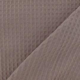 Tissu éponge nid d'abeille recto-verso gris tourterelle x 10cm