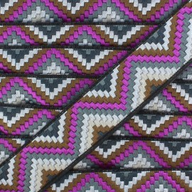 Jacquard braid trimming ribbon, Machu Picchu - Purple