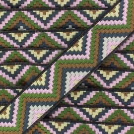 Ruban Galon Jacquard Machu Picchu vert