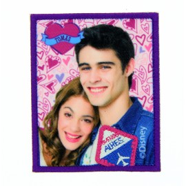"""Violetta & Tomas"" canvas iron-on applique - purple"