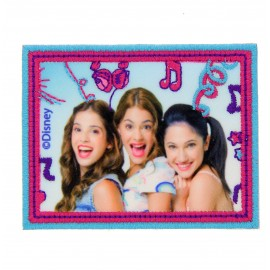 """Violetta, Camilla & francesca"" canvas iron-on applique - light blue"
