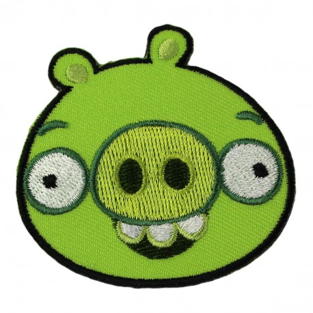Thermocollant angry birds cochon vert ma petite mercerie - Cochon angry bird ...