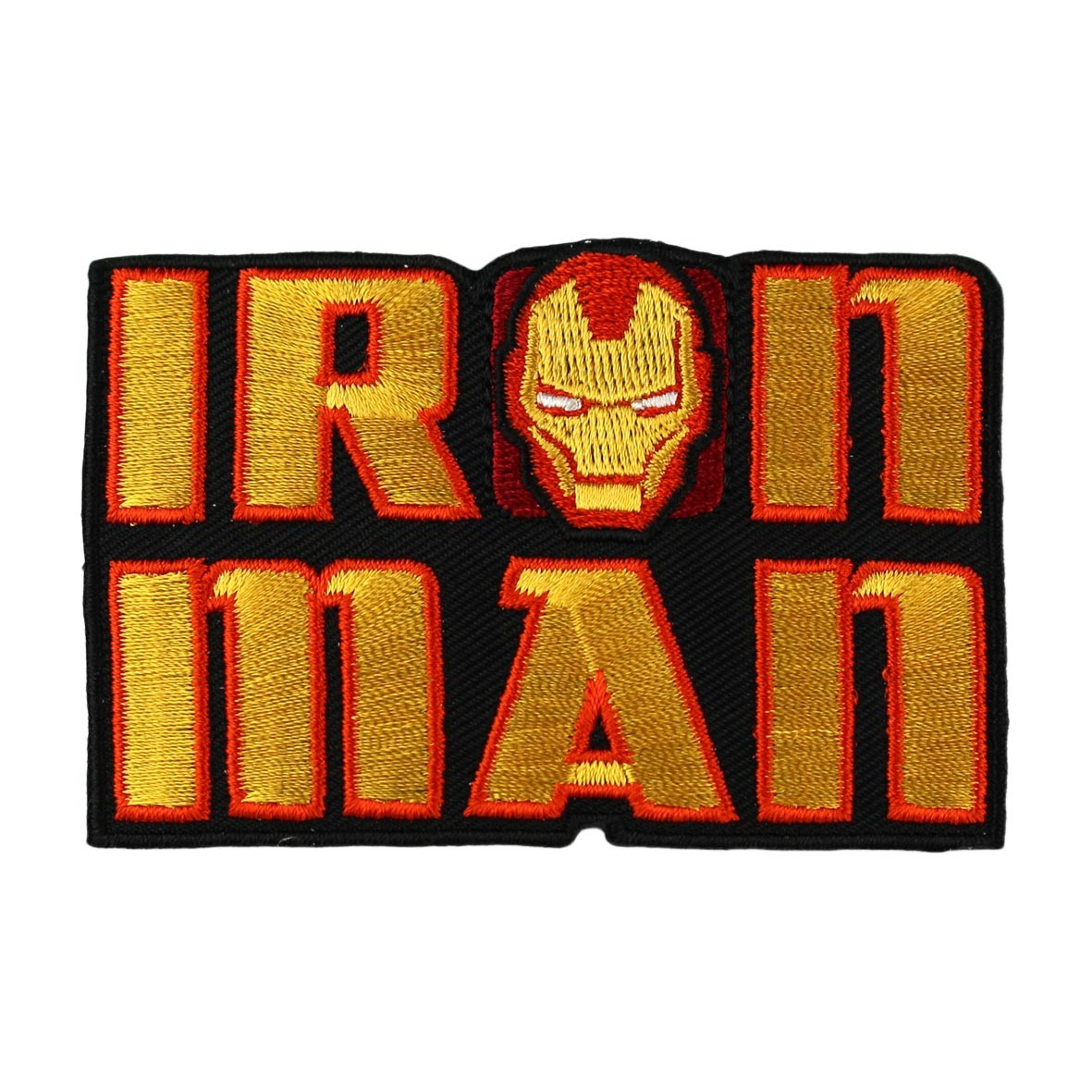 Avengers Iron Man logo iron-on applique - orange - Ma Petite Mercerie