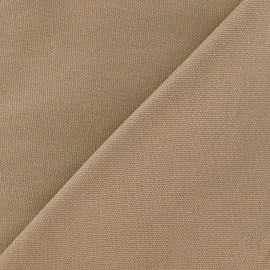 ♥ Coupon tissu 185 cm X 140 cm ♥Tissu toile de coton uni CANEVAS Grège