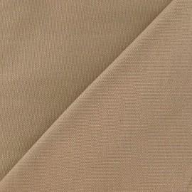Tissu toile de coton uni CANEVAS Grège x 10cm