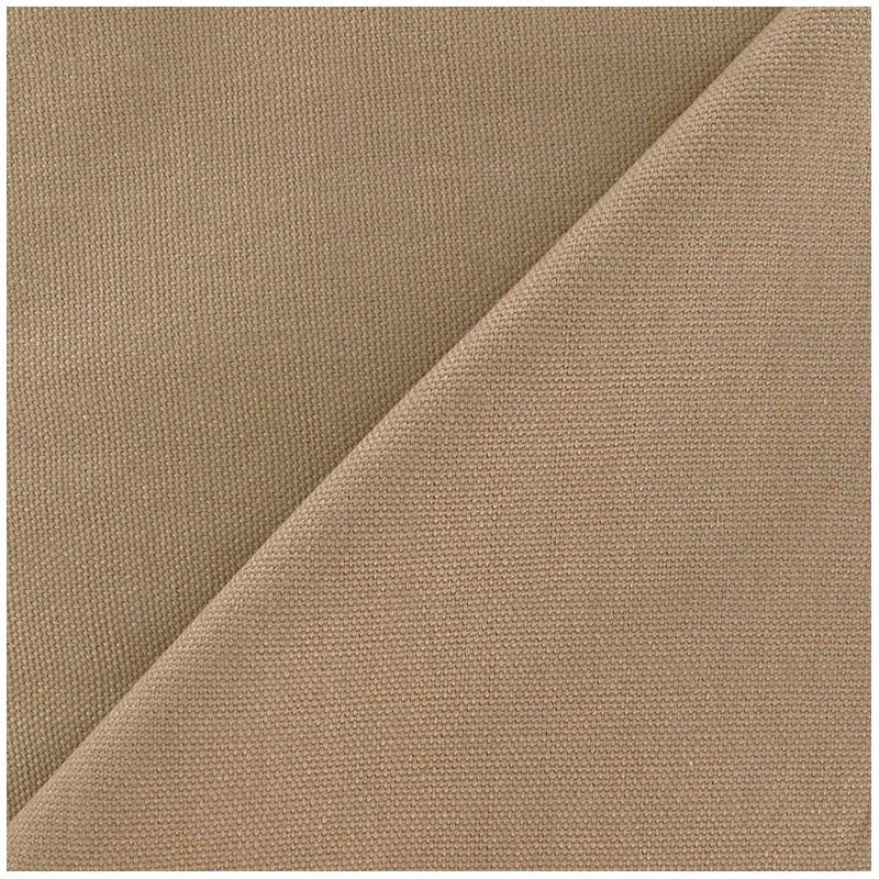 Tissu toile de coton uni canevas gr ge x 10cm ma petite mercerie - Toile de coton synonyme ...