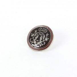 Bouton métal Royal argent