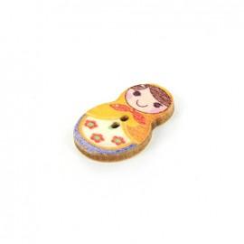 Wooden button matriochka - Anastasia