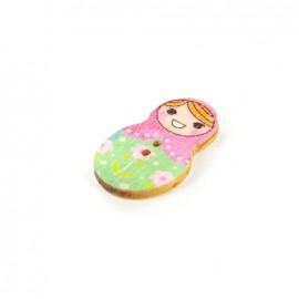 Wooden button matriochka - Maria
