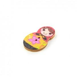 Wooden button matriochka - Antonina