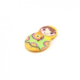 Wooden button matriochka - Anna
