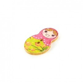 Wooden button matriochka - Liza