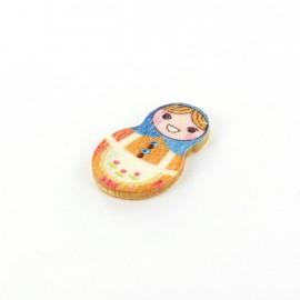 Wooden button matriochka - Tatiana