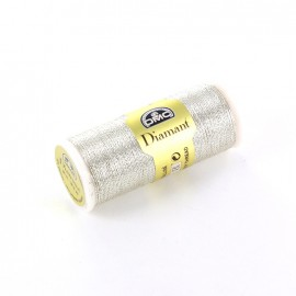 DMC embroidery Diamant thread 35 m  – metallic silver