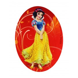 "Disney Princesses ""Snow White"" canvas iron-on applique - red"