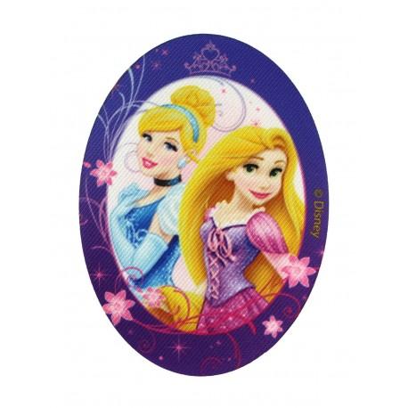 "Disney Princesses ""Cinderella & Rapunzel"" canvas iron-on applique - purple"