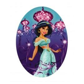 "Disney Princesses ""One thousand and one nights of Jasmine"" canvas iron-on applique - - purple"