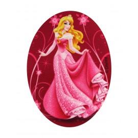 "♥ Disney Princesses ""Sleeping beauty"" canvas iron-on applique - fuchsia ♥"