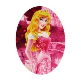 "Disney Princesses ""Aurora"" canvas iron-on applique - fuchsia"