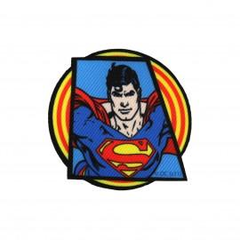 Canvas Superman of Krypton iron-on applique - blue