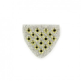 Diamond shoulder-pad iron-on applique - yellow