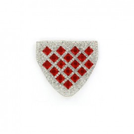 Diamond shoulder-pad iron-on applique - red