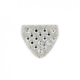 ♥ Diamond shoulder-pad iron-on applique - silver ♥